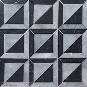 Allure, Black Multi Finish York Marble Mosaics 30,3x30,3