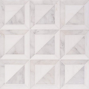 Snow White, Avalon Multi Finish York Marble Mosaics 30,3x30,3