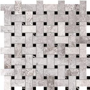 New Tundra Gray Polished Basket Weave Marble Mosaics 30,5x30,5
