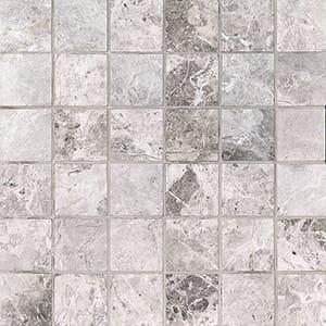 New Tundra Gray Honed 2x2 Marble Mosaics 30,5x30,5