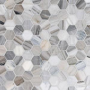 Skyline Polished Hexagon Marble Mosaics 26,5x31