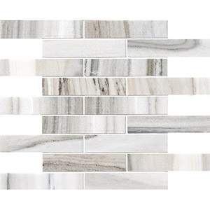 Skyline Honed 3x15,2 Marble Mosaics 30,5x30,5