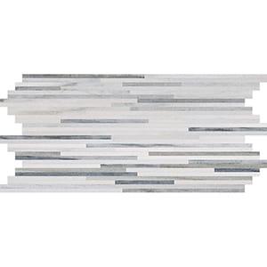 Skyline Honed Bamboo Marble Mosaics 15,2x30,5