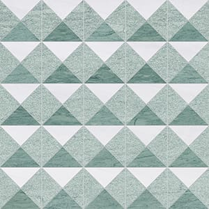 Verde Capri, Snow White Multi Finish Devon Marble Mosaics 31x31