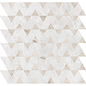 Iceberg, Diana Royal Polished Monte Marble Mosaics 31,43x31,43