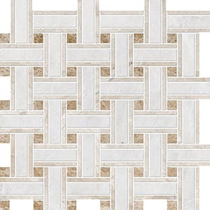 Iceberg, Diana Royal, Paradise Polished Lattice Marble Mosaics 30,5x30,5