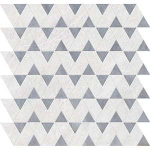 Iceberg, Allure Polished Monte Marble Mosaics 31,43x31,43