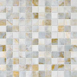 Calacatta Fusion Polished 1x1 Marble Mosaics 30,5x30,5