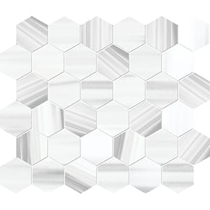 Frost White Honed Marble Mosaics 26,5x31
