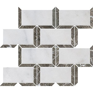 Avalon, Silver Drop Polished Cascade Marble Mosaics 24,5x30