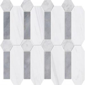 Snow White, Allure Multi Finish Pillar Marble Mosaics 33x33