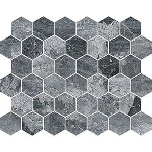 Haisa Black Polished Hexagon Marble Mosaics 26,5x30,5