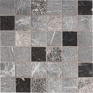 Iris Black Textura 2x2 Marble Mosaics 30,5x30,5