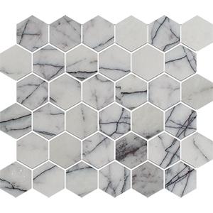 Lilac Honed Hexagon Marble Mosaics 26,5x31