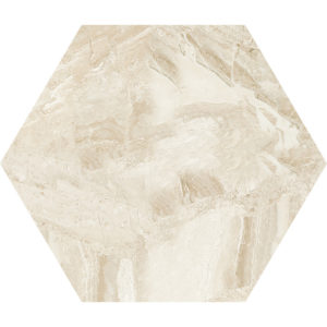 Diana Royal Honed Hexagon Marble Waterjet Decos 14,5x12,5