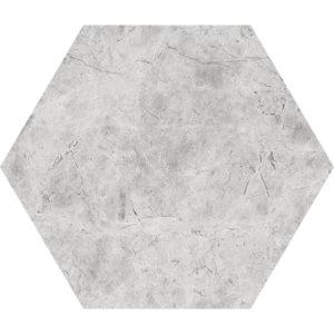 Silver Shadow Honed Hexagon Marble Waterjet Decos 14,5x12,5