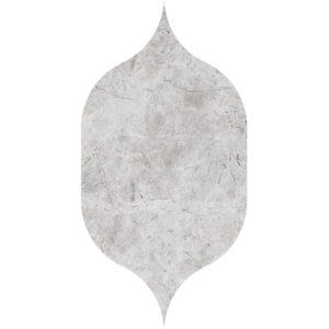 Silver Shadow Honed Gothic Arabesque Marble Waterjet Decos 12,5x22,5