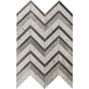 Bosphorus Honed Chevron Fusion Limestone Mosaics 30,2x40,6