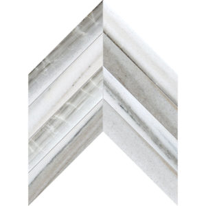 Skyline Vein Cut Honed Chevron Marble Waterjet Decos 33x25,4