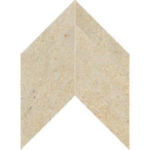 Seashell Honed Chevron Limestone Waterjet Decos 33x25,4