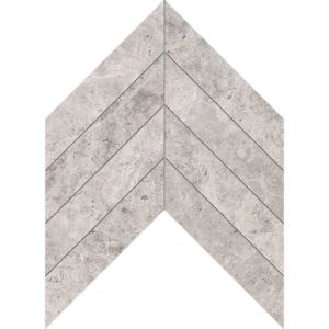 Silver Clouds Polished Chevron Marble Waterjet Decos 33x25,4