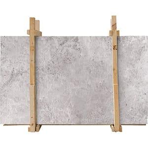New Tundra Gray Honed Marble Slab Custom