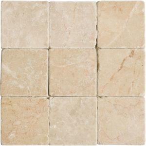 Crema Bella Tumbled Marble Tiles 10x10