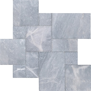 Allure Tumbled Marble Pavers Versailles Pattern