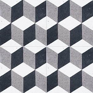 Black, White, Gray Polished Grave Cement Tiles 20x20