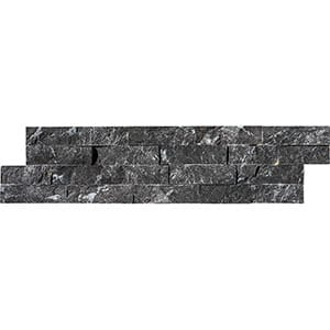 Black Rock Face Marble Ledger Panel 15,2x61