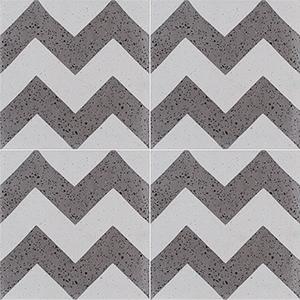 Brown, Beige Polished Allegro Cement Tiles 20x20