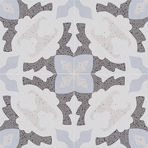 Brown, Light Brown, Beige, Gray Polished Presto Cement Tiles 20x20