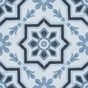 Blue, Light Blue, Dark Blue, Black Polished Bel Canto Cement Tiles 20x20