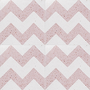 Pink, Light Pink Polished Allegro Cement Tiles 20x20