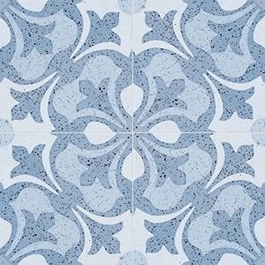 Blue, Light Blue, Dark Blue Polished Andante Cement Tiles 20x20
