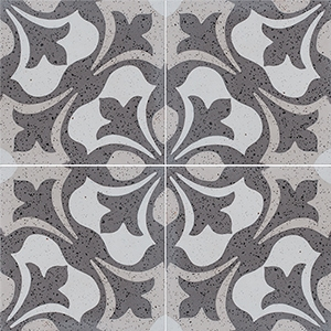 Brown, Light Brown, Beige, Gray Polished Andante Cement Tiles 20x20