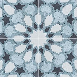 Green, Light Green, Dark Green, Black Polished Arietta Cement Tiles 20x20