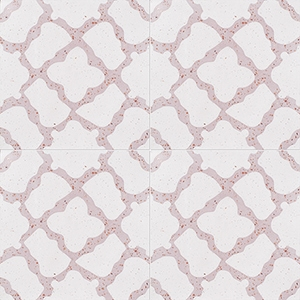 Pink, Light Pink Polished Capella Cement Tiles 20x20