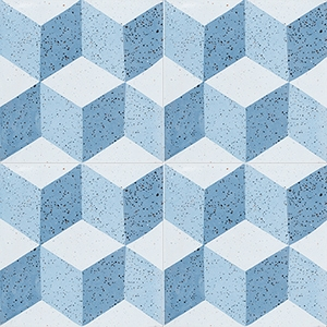 Blue, Light Blue, Dark Blue Polished Grave Cement Tiles 20x20
