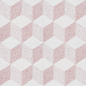 Pink, Light Pink, Beige Polished Grave Cement Tiles 20x20
