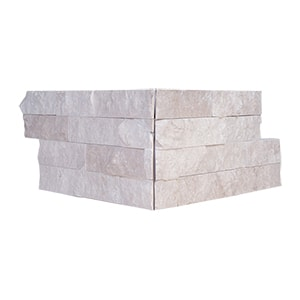 Diana Royal Rock Face Corner Marble Ledger Panel 15,2x30,5