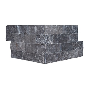 Black Rock Face Corner Marble Ledger Panel 15,2x30,5