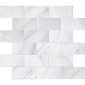 Fantasy White Brushed Marble Pavers 15,2x30,5