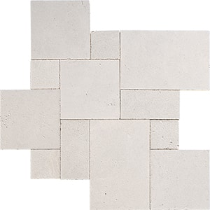 Cappuccino Textura Marble Pavers Versailles Pattern