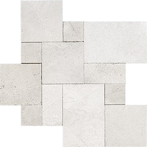 Silver Shadow Textura Marble Pavers Versailles Pattern