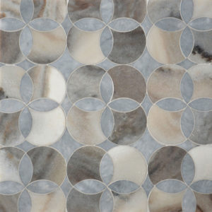 Afyon Grey, Palisandra Multi Finish Constantine Marble Waterjet Decos 34,52x34,52