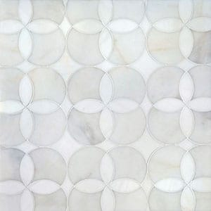 Afyon White, Dolomite Multi Finish Constantine Marble Waterjet Decos 34,52x34,52