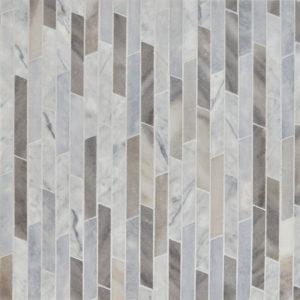 Afyon Grey, Palisandra Multi Finish Rhodes Marble Waterjet Decos 22,38x36,35
