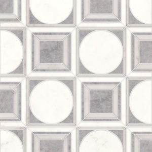 Afyon Grey, Afyon White, Dolomite Multi Finish Cicero Marble Waterjet Decos 30,5x30,5