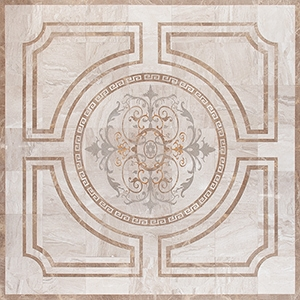 Diana Royal, Golden Sienna, Olive Green, Multi Finish Leaf Marble Medallions